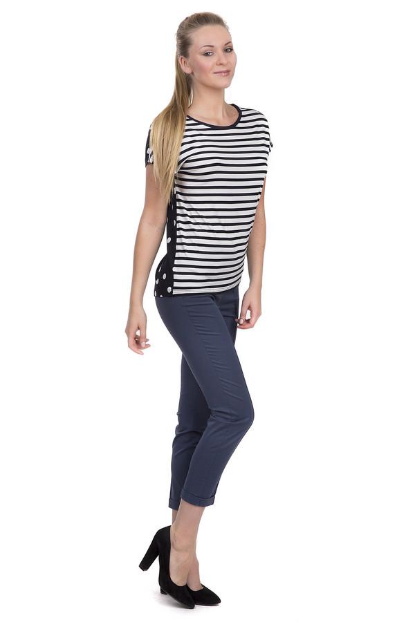 женские брюки скинни luisa cerano, синие