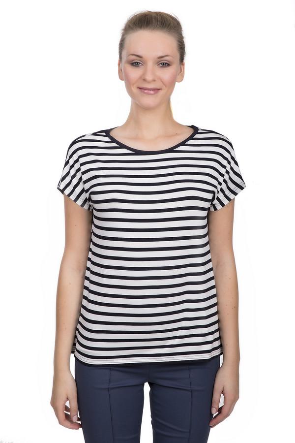 Футболка Gerry WeberФутболки<br>Футболка для женщин от бренда Gerry Weber. Это футболка в черно-белую полоску спереди и черная в белый горошек сзади. Она пошита из вискозы с добавлением эластана. У данной модели короткий рукав и вырез-лодочка.<br><br>Размер RU: 52<br>Пол: Женский<br>Возраст: Взрослый<br>Материал: эластан 8%, вискоза 92%<br>Цвет: Чёрный