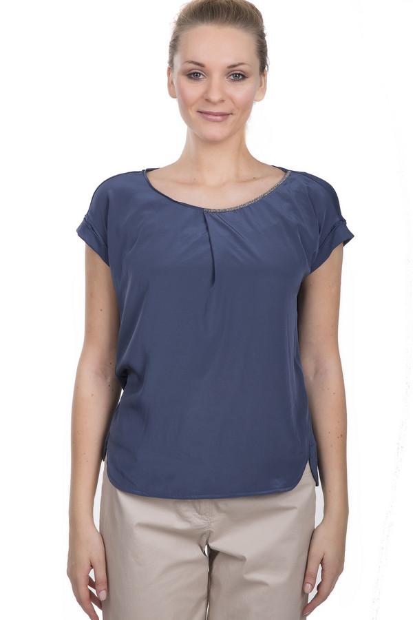 Блузa Luisa CeranoБлузы<br>Темно-синяя блуза от бренда Luisa Cerano свободного кроя. Это стильная блуза с украшенным бисером воротником. Она пошита из легкой ткани из вискозы с дополнением эластана. Блуза дополнена коротким рукавом, круглым вырезом, а также небольшими боковыми вырезами.<br><br>Размер RU: 48<br>Пол: Женский<br>Возраст: Взрослый<br>Материал: эластан 5%, вискоза 95%<br>Цвет: Синий