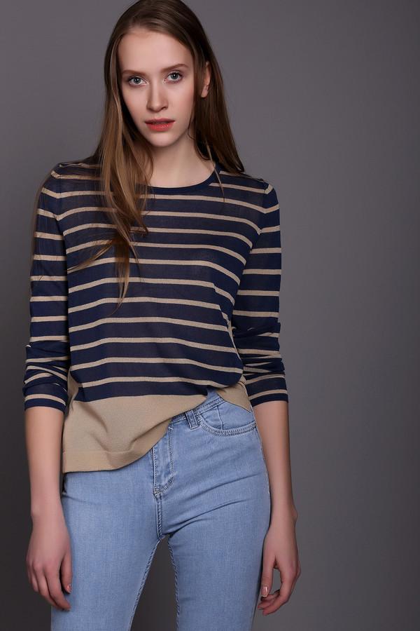 Пуловер Luisa CeranoПуловеры<br>Женский пуловер от бренда Luisa Cerano бежевого цвета в синюю полоску. Эта модель, со слегка удлиненной спинкой, дополнена длинным рукавом и U-образным вырезом. В нижней части и по бокам пуловера также есть полосы бежевого цвета. Состав материала данного изделия - 84% вискоза и 16% полиамид.<br><br>Размер RU: 46<br>Пол: Женский<br>Возраст: Взрослый<br>Материал: полиамид 16%, вискоза 84%<br>Цвет: Синий