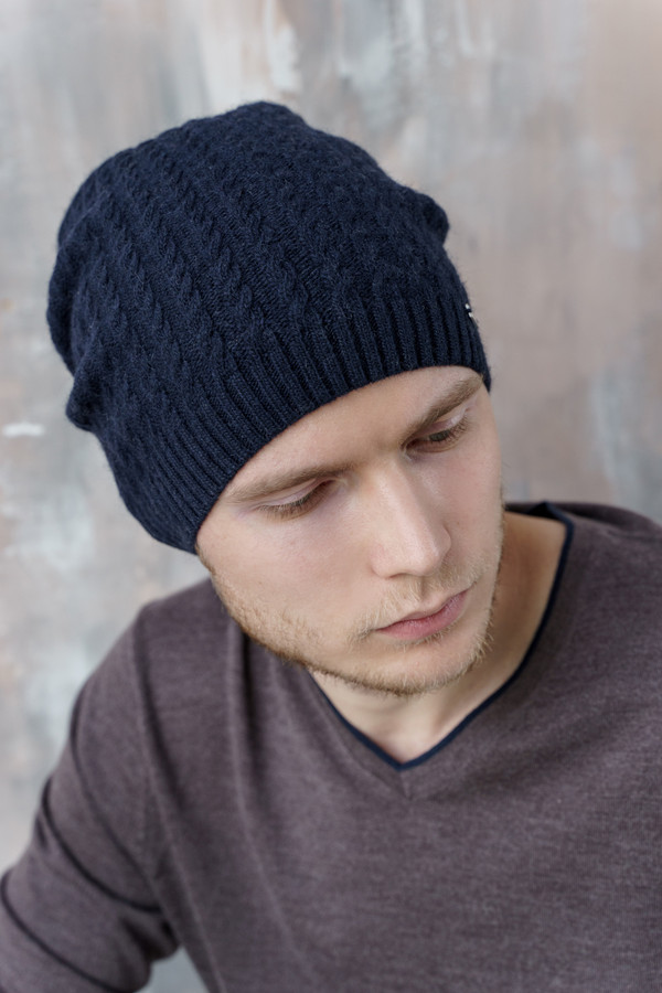 мужская шапка john trigger, синяя