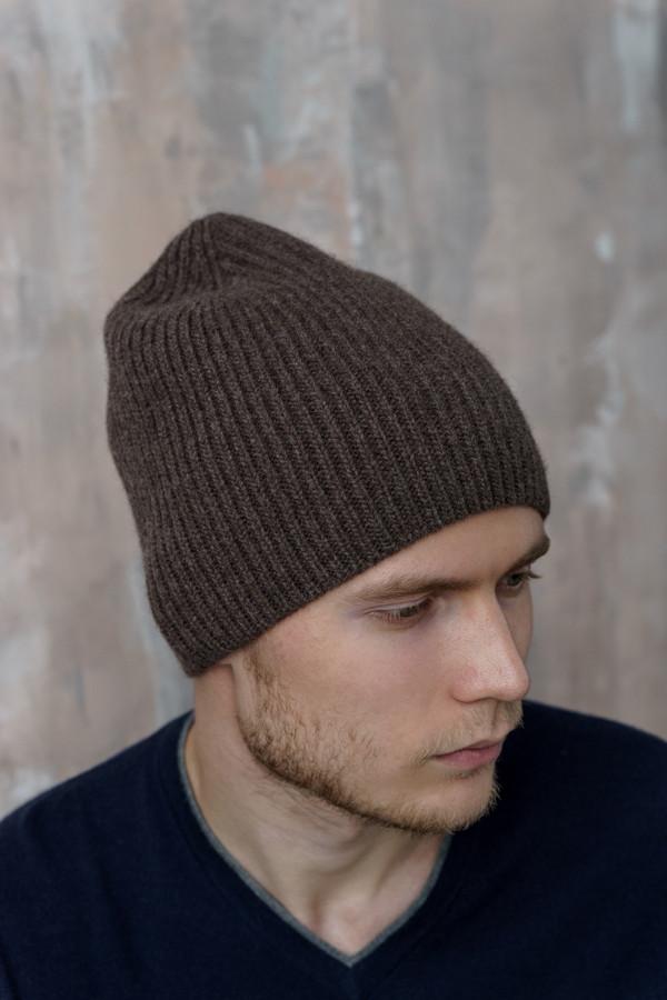 мужская шапка john trigger, коричневая