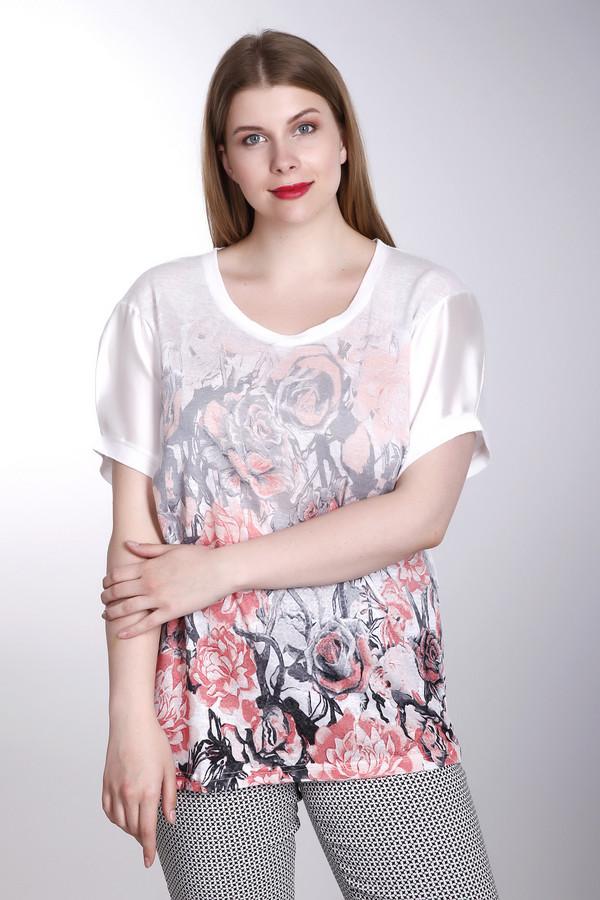 Футболка Betty BarclayФутболки<br>Оригинальная женская футболка от бренда Betty Barclay. Это футболка белого цвета, дополненная цветочным принтом красного и черного цвета на передней части. Изделие выполнено из 100% льна. Изделие дополнено круглым вырезом и короткими рукавами-фонарик длиной до середины плеча.<br><br>Размер RU: 42<br>Пол: Женский<br>Возраст: Взрослый<br>Материал: лен 100%<br>Цвет: Разноцветный