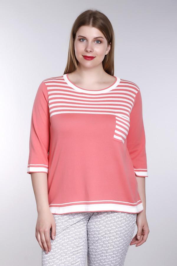 Пуловер Betty BarclayПуловеры<br>Женский пуловер от торговой марки Betty Barclay, изготовленный из 100% хлопка. Модель с разрезами по бокам, и слегка удлиненной спинкой, дополнена рукавом три четверти, круглым вырезом, и накладным карманом в белую полоску спереди. И представлена в оранжевом цвете с белыми полосками спереди, на горловине, рукавах, и нижней части изделия.<br><br>Размер RU: 50<br>Пол: Женский<br>Возраст: Взрослый<br>Материал: хлопок 100%<br>Цвет: Разноцветный