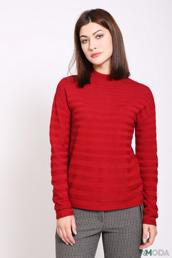 Пуловер Oui, цвет красный, размер 44RU
