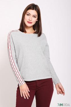 Пуловер Oui, цвет серый, размер 42RU