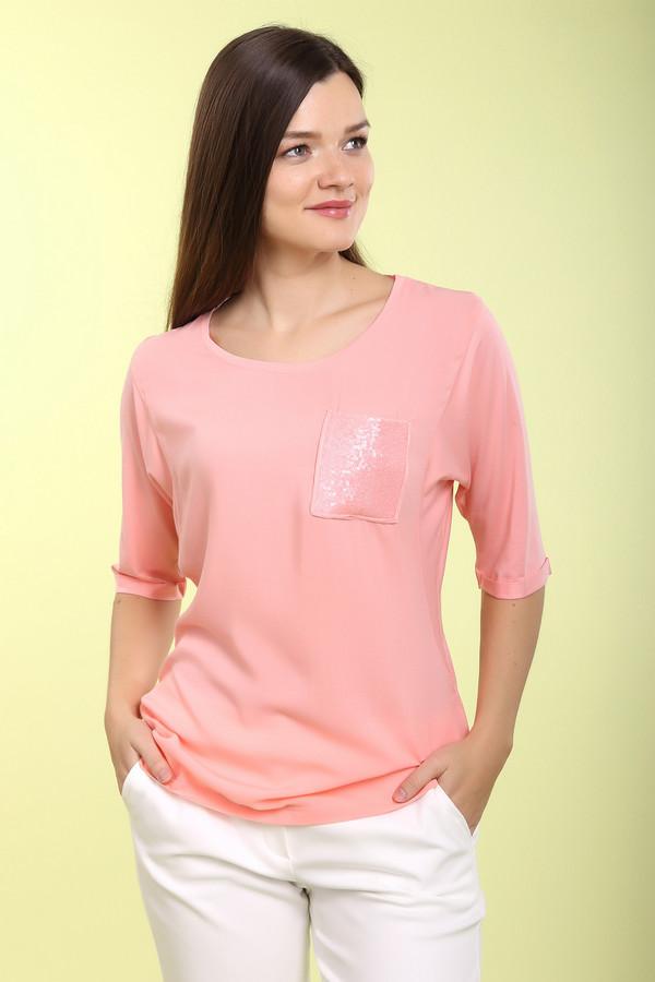 Блузa Betty BarclayБлузы<br>Блуза нежно-розового цвета от бренда Betty Barclay. Это блуза свободного покроя, с круглым вырезом и рукавами длиной до локтя. Изделие дополнено нагрудным карманом, расшитым блестящими пайетками под цвет блузы. Материал изделия - вискоза с добавлением эластана.<br><br>Размер RU: 48<br>Пол: Женский<br>Возраст: Взрослый<br>Материал: эластан 5%, вискоза 95%<br>Цвет: Розовый
