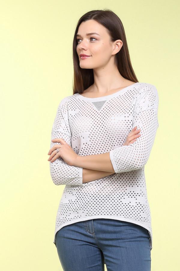 Пуловер Betty BarclayПуловеры<br>Летний пуловер для женщин от бренда Betty Barclay с перфорацией. Представлен в сером цвете. Эта модель ассиметричного покроя с удлиненной линией плеча, рукавом длиной три четверти и U-образным вырезом. Состав: 50% хлопка и 50% полиакрила.<br><br>Размер RU: 48<br>Пол: Женский<br>Возраст: Взрослый<br>Материал: хлопок 50%, полиакрил 50%<br>Цвет: Серый