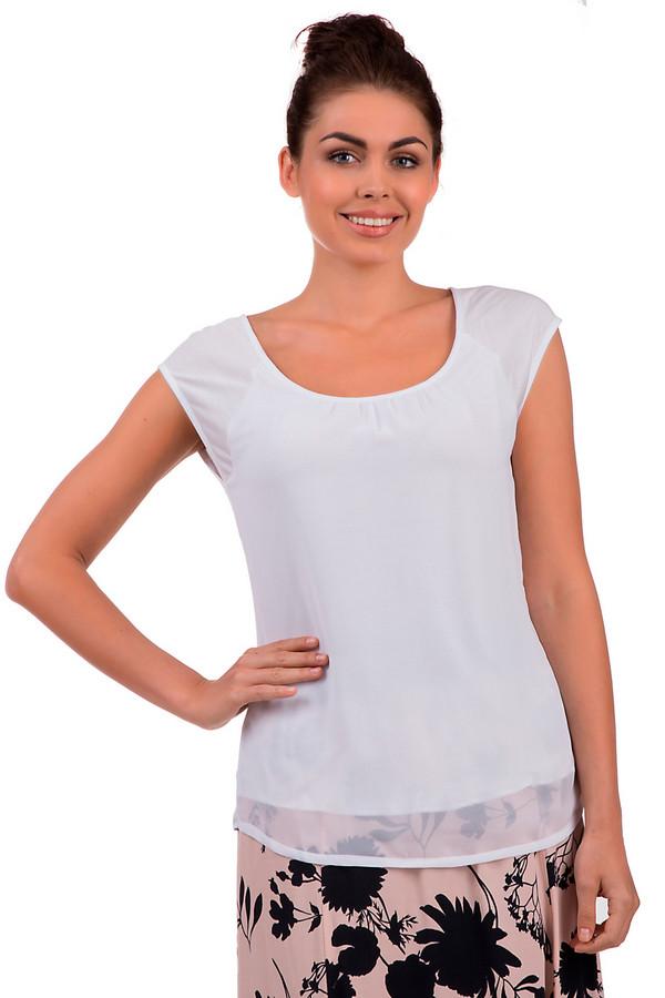 Блузa MonariБлузы<br>Белая блуза от бренда Monari прямого кроя с эффектом многослойности. Изделие дополнено: u-образным вырезом и короткими рукавами-реглан. Невероятно легкая блуза идеальный вариант для летнего периода. Совершенно универсальна без труда подойдет как для офиса, так и для прогулок.<br><br>Размер RU: 42<br>Пол: Женский<br>Возраст: Взрослый<br>Материал: полиэстер 100%<br>Цвет: Белый