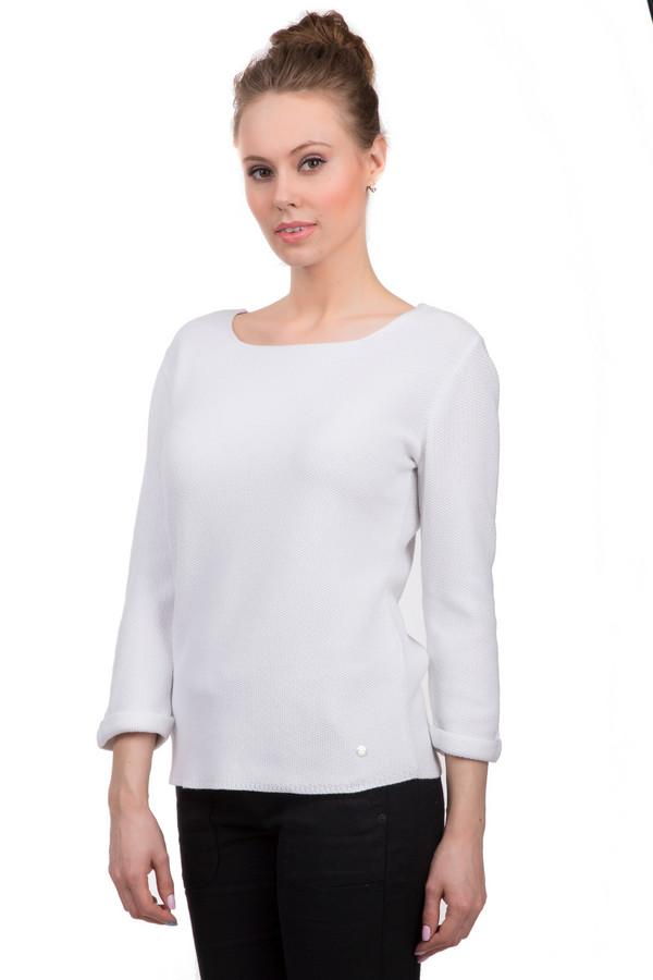 Пуловер MonariПуловеры<br>Демисезонный женский пуловер от бренда Monari, белого цвета с эмблемой торговой марки. Данная модель дополнена U-образным вырезом и длинным рукавом с подворотом. Состав - 50% хлопка и 50% полиакрила.<br><br>Размер RU: 44<br>Пол: Женский<br>Возраст: Взрослый<br>Материал: хлопок 50%, полиакрил 50%<br>Цвет: Белый