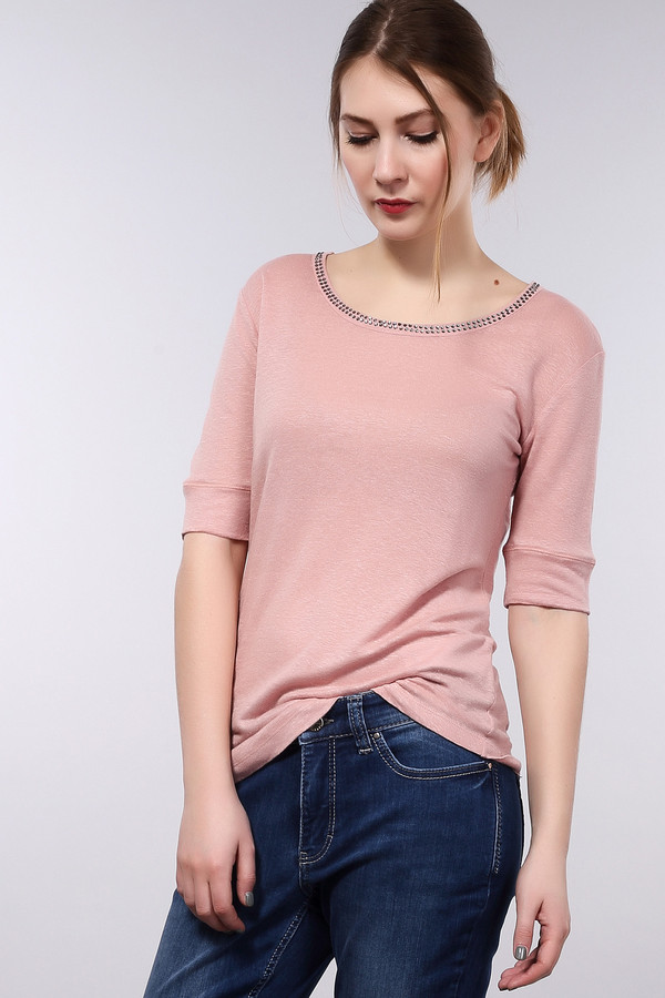 Пуловер MonariНежный женский пуловер, представлен брендом Monari в розовом цвете. Данное изделие изготовлено из 100% льна. Модель дополнена рукавом с отделкой, длиной до середины плеча и U-образным вырезом, украшенным стразами.<br><br>Размер RU: 42<br>Пол: Женский<br>Возраст: Взрослый<br>Материал: лен 100%<br>Цвет: Розовый
