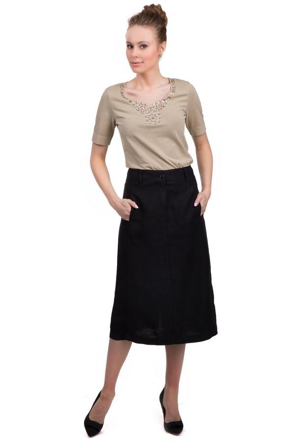 Юбка GardeurЮбки<br>Юбка Gardeur черного цвета. Изделие выполнено из льна. Можно носить круглый год. Дополнено застежкой с молнией и пуговицей, шлевками для ремня и разрезом сзади. Такая модель может стать отличной базой для любого образа. Благодаря своему цвету и длине, эту юбку можно сочетать с любым стилем одежды.<br><br>Размер RU: 46<br>Пол: Женский<br>Возраст: Взрослый<br>Материал: лен 100%<br>Цвет: Чёрный