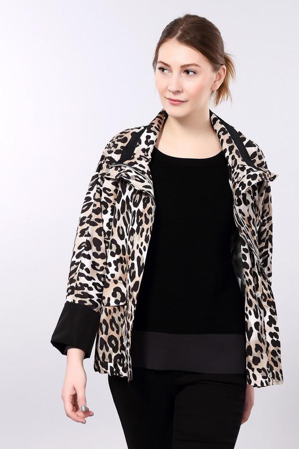 Куртка BaslerКуртки<br>Демисезонная куртка Basler с леопардовым принтом. Сочетает такие цвета как: серый, чёрный, коричневый и бежевый. Дополнена двумя боковыми карманами и скрытой застежкой. Куртка сделана из полиэстера. Ворот изделия можно обыгрывать на свое усмотрение: полностью закрывать шею или элегантно ее приоткрыть, чтобы показать красивый платок или шарф.<br><br>Размер RU: 42<br>Пол: Женский<br>Возраст: Взрослый<br>Материал: полиэстер 100%<br>Цвет: Разноцветный