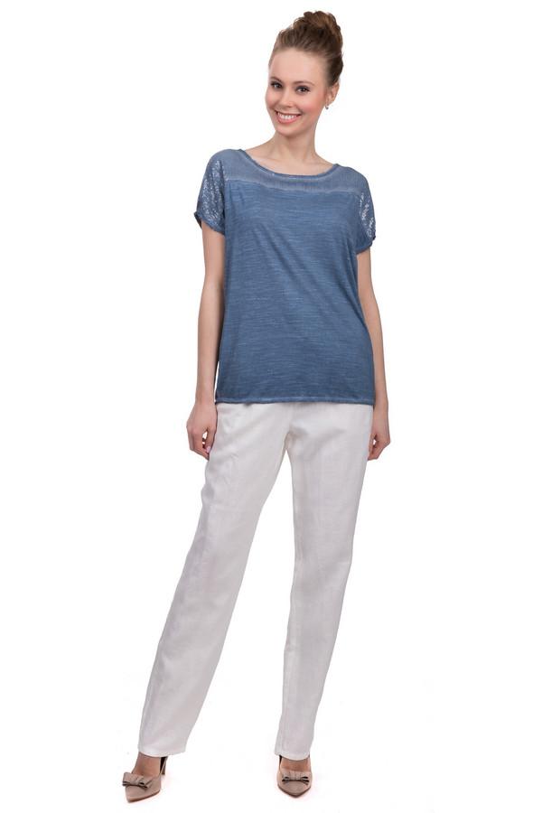 Брюки SteilmannБрюки<br>Стильные женские брюки прямого свободного покроя от бренда Steilmann, сшитые из натурального 100% льна. Брюки представлены в белом цвете и дополнены резинкой с завязками голубого цвета.<br><br>Размер RU: 42<br>Пол: Женский<br>Возраст: Взрослый<br>Материал: лен 100%<br>Цвет: Белый
