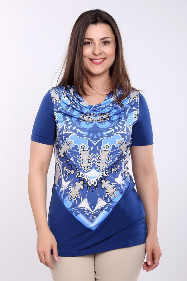 Блузa Betty BarclayБлузы<br>Женственная блуза от бренда Betty Barclay, выполненная из полиэстера с добавлением эластана. У данной модели свободный круглый вырез и рукава длиной до середины плеча. Блуза представлена в синих, голубых и бежевых тонах, с оригинальными узорами на передней ее части.<br><br>Размер RU: 52<br>Пол: Женский<br>Возраст: Взрослый<br>Материал: эластан 5%, полиэстер 95%<br>Цвет: Разноцветный