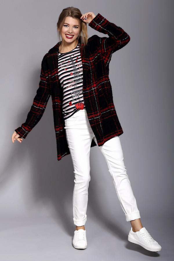 Жакет OuiЖакеты<br>Жакет Oui оформленный в черно-красную клетку с белой окантовкой, изготовленный из сочетания шерсти и вискозы. Идеально подойдет для посещения работы или прогулок с друзьями в ветреную погоду. Жакет застегивается на пуговицы. Глубокие карманы, основание которых декорировано пуговками. Пальто можно носить в тандеме с  шарфом .<br><br>Размер RU: 50<br>Пол: Женский<br>Возраст: Взрослый<br>Материал: полиэстер 20%, шерсть 45%, вискоза 15%, полиакрил 20%<br>Цвет: Разноцветный