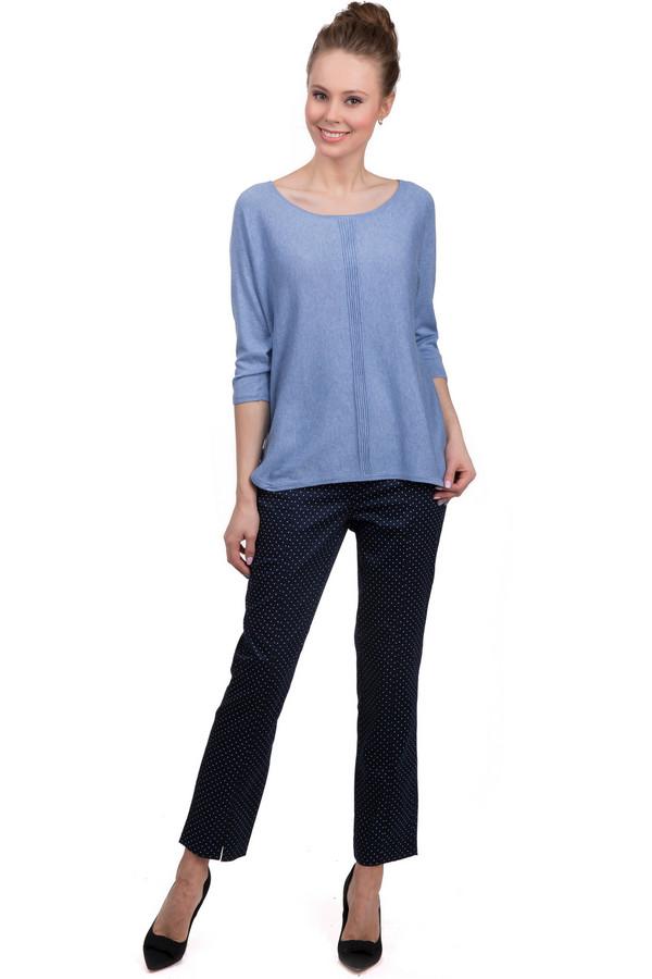 Брюки MicheleБрюки<br>Классические стильные брюки от бренда Michele. Это брюки темно-синего цвета, в белый горошек, сшитые из хлопка с добавлением эластана. По покрою это брюки-дудочки на высокой талии, дополненные одним боковым карманом. Центральная часть застегивается на молнию и фиксируется на пуговицы.<br><br>Размер RU: 48<br>Пол: Женский<br>Возраст: Взрослый<br>Материал: эластан 3%, хлопок 97%<br>Цвет: Белый
