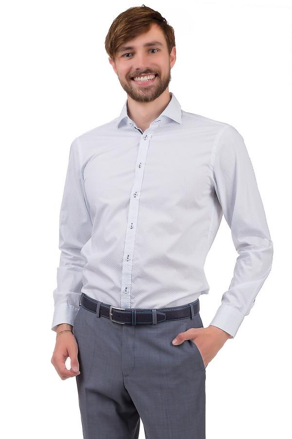 Рубашка с длинным рукавом VentiДлинный рукав<br>Рубашка для мужчин от бренда Venti. Это рубашка на пуговицах, выполненная в белом цвете в светло-голубые мелкие круги. Она выполнена по классическому крою с отложным воротником и длинным рукавом. Материал - 100% хлопок.<br><br>Размер RU: 41-42<br>Пол: Мужской<br>Возраст: Взрослый<br>Материал: хлопок 100%<br>Цвет: Голубой