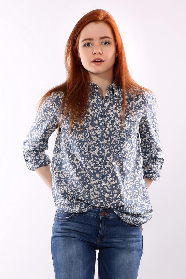 Рубашка с длинным рукавом s.OliverДлинный рукав<br>Женская удлиненная рубашка классического кроя на пуговицах от бренда s.Oliver. Это рубашка синего цвета с белыми вкраплениями, которая пошита из 100% хлопка. У данной модели длинный рукав, отложной воротник и два нагрудных кармана, которые застегиваются на пуговицы.<br><br>Размер RU: 40<br>Пол: Женский<br>Возраст: Взрослый<br>Материал: хлопок 100%<br>Цвет: Бежевый