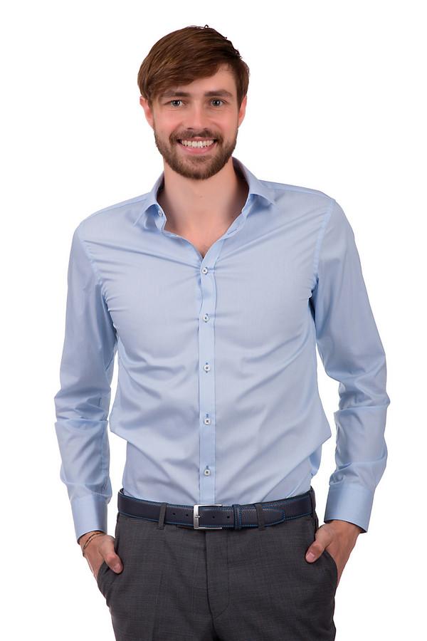 Рубашка с длинным рукавом VentiДлинный рукав<br>Мужская рубашка от бренда Venti. Это рубашка на пуговицах, сшитая из 100% хлопка по классическому покрою с отложным воротником и длинным рукавом.<br><br>Размер RU: 45<br>Пол: Мужской<br>Возраст: Взрослый<br>Материал: хлопок 100%<br>Цвет: Голубой