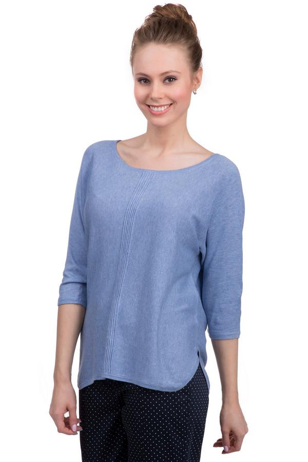 Пуловер s.OliverПуловеры<br>Элегантный демисезонный женский пуловер от бренда s.Oliver. Модель представлена в нежно-голубом цвете. Данное изделие состоит на 50% из хлопка и на 50% из модала и дополнено рукавом длинной в три четверти, полукруглым вырезом и двумя боковыми вырезами внизу. Также пуловер по середине спереди украшен декоративной отделкой и сзади декорирован пуговицей.<br><br>Размер RU: 40<br>Пол: Женский<br>Возраст: Взрослый<br>Материал: хлопок 50%, модал 50%<br>Цвет: Голубой