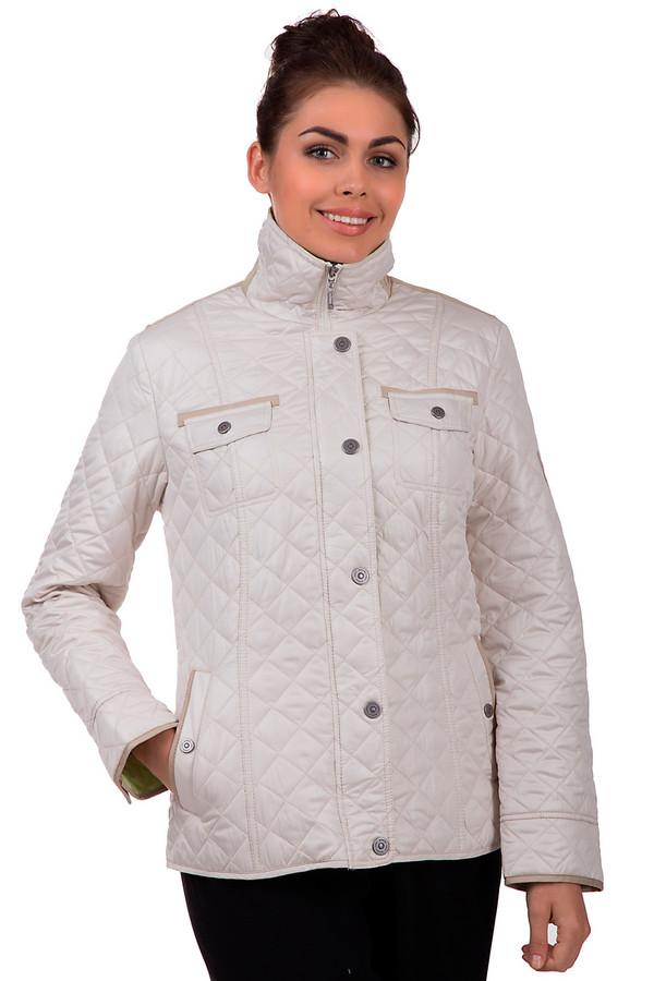 Куртка LebekКуртки<br>Демисезонная куртка Lebek бежевого цвета. Дополнена металлическими круглыми вставками, что подчеркивают плечи. Карманы на груди и по бокам. У изделия двойная застежка: снизу на молнии, сверху на пуговицы. Сзади куртка дополнена двумя регуляторами для линии силуэта. Внутренняя сторона изделия выполнена в салатовом цвете. Куртка сделана из полиэстера.<br><br>Размер RU: 44<br>Пол: Женский<br>Возраст: Взрослый<br>Материал: полиэстер 100%<br>Цвет: Бежевый