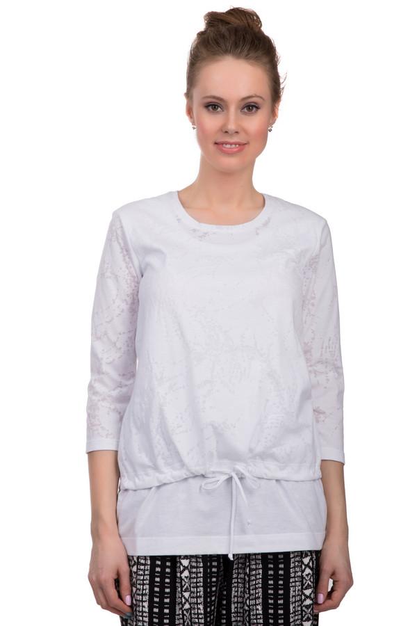 Лонгслив ErfoЛонгсливы<br>Стильная футболка для женщин от бренда Erfo. Это двухслойная футболка, выполненная в белом цвете из материала, который на 50% состоит из хлопка и на 50% из полиэстера. Нижний слой футболки в виде майки-безрукавки с круглым вырезом, а верхний в виде укороченной футболки с рукавом три четверти, круглым вырезом под горло и завязками на поясе. Верхний слой футболки дополнен полупрозрачными абстрактными узорами.<br><br>Размер RU: 44<br>Пол: Женский<br>Возраст: Взрослый<br>Материал: полиэстер 50%, хлопок 50%<br>Цвет: Белый