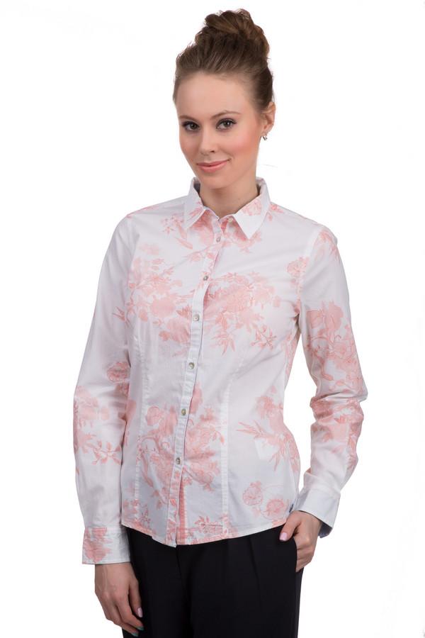 Рубашка с длинным рукавом ArqueonautasДлинный рукав<br>Фирменная рубашка на пуговицах от Arqueonautas для женщин. Это рубашка белого цвета с набивным цветочным принтом светло-оранжевого цвета. Она сшита по классическому покрою с длинным рукавом и отложным воротником. Материал — абсолютный хлопок.<br><br>Размер RU: 40-42<br>Пол: Женский<br>Возраст: Взрослый<br>Материал: хлопок 100%<br>Цвет: Оранжевый