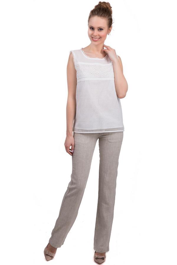 Брюки Sai-KuБрюки<br>Стильные женские льняные брюки, выполненные в бежевом оттенке от бренда Sai-Ku. Брюки сделаны по прямому, слегка удлиненному покрою. Изделие дополнено: резинкой с завязками на поясе, крупными передними боковыми карманами и двумя прорезными карманами сзади.<br><br>Размер RU: 48<br>Пол: Женский<br>Возраст: Взрослый<br>Материал: лен 100%<br>Цвет: Бежевый