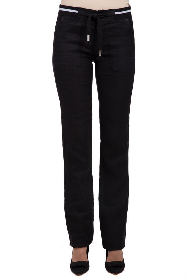 Брюки Sai-KuБрюки<br>Стильные женские льняные брюки, выполненные в классическом черном цвете от бренда Sai-Ku. Брюки сделаны по прямому, слегка удлиненному покрою. Изделие дополнено: резинкой с завязками на поясе, крупными передними боковыми карманами и двумя прорезными карманами сзади.<br><br>Размер RU: 44<br>Пол: Женский<br>Возраст: Взрослый<br>Материал: лен 100%<br>Цвет: Чёрный