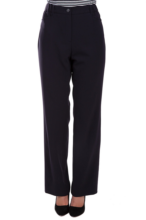 Брюки SamoonБрюки<br>Элегантные женские брюки от бренда Samoon черного цвета. Это изделие было выполнено из эластана и полиэстера. Данная модель является демисезонной. Штаны с высокой посадкой и свободного кроя. Дополнены карманами сбоку. Такие брюки будут отличной базой для сдержанного и в то же время интересного образа.<br><br>Размер RU: 52<br>Пол: Женский<br>Возраст: Взрослый<br>Материал: эластан 9%, полиэстер 91%<br>Цвет: Чёрный