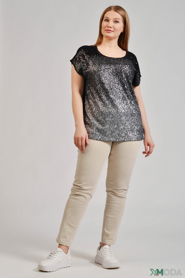 Фото 3 - Женскую футболку Via Appia разноцветного цвета