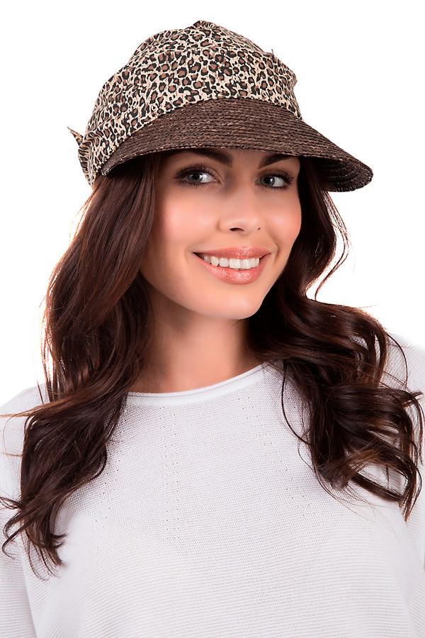 Кепка SeebergerКепки<br>Яркая женская кепка от бренда Seeberger чёрного, бежевого и коричневых цветов. Изделие выполнено полностью из соломы. Данная модель предназначена для летнего сезона. Дополнена широким темным козырьком и завязкой сзади. Основа оформлена леопардовым принтом. Головной убор отлично защищает от солнца. При этом, будет ярким и стильным акцентом в любом летнем образе.<br><br>Размер RU: один размер<br>Пол: Женский<br>Возраст: Взрослый<br>Материал: солома 100%<br>Цвет: Разноцветный
