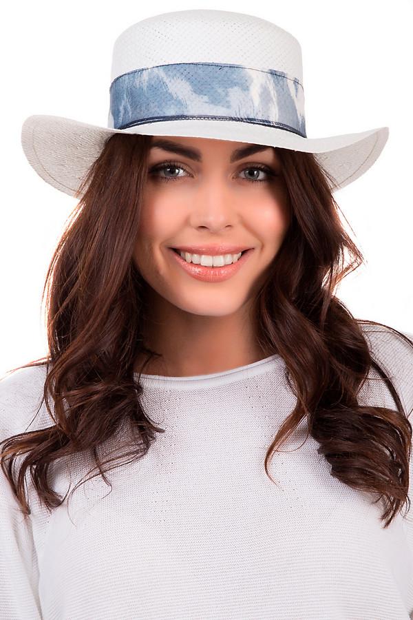 Шляпа WegenerШляпы<br>Оригинальная женская шляпа от бренда Wegener светлого белого цвета. Изделие выполнено из бумаги. Данная модель предназначена для летней погоды. Шляпа широкополая. Она дополнена голубой с белым лентой, что завязывается сзади в красивый объемный бант. Защищает голову от негативного влияния солнечных лучей. Шляпа будет яркой деталью в образе.<br><br>Размер RU: 57<br>Пол: Женский<br>Возраст: Взрослый<br>Материал: бумага 100%<br>Цвет: Синий