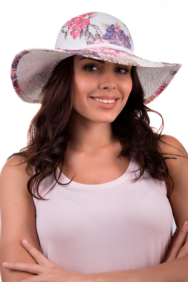 Шляпа WegenerШляпы<br>Разноцветная женская шляпа от бренда Wegener. Данное изделие выполнено из бумаги. Эта модель предназначена для лета. Дополнена ярким рисунком фиолетового коричневого и розового цветов на белом фоне. Поля у шляпы широкие. Этот головной убор будет надежно защищать от солнечных лучей. Также она придаст летнему образу женственности и нежности.<br><br>Размер RU: один размер<br>Пол: Женский<br>Возраст: Взрослый<br>Материал: бумага 100%<br>Цвет: Разноцветный