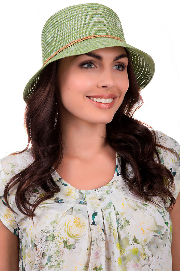 Шляпа WegenerШляпы<br>Модная женская шляпа от бренда Wegener светлого зелёного цвета. Это изделие выполнено из бумаги. Данная модель предназначена для лета. Шляпа широкополая. Она дополнена светло коричневыми нитками, что соединяются сзади с круглой деталью. Защитит голову от пагубного влияния солнечных лучей. Шляпа будет ярким акцентом в образе.<br><br>Размер RU: 57<br>Пол: Женский<br>Возраст: Взрослый<br>Материал: бумага 100%<br>Цвет: Разноцветный