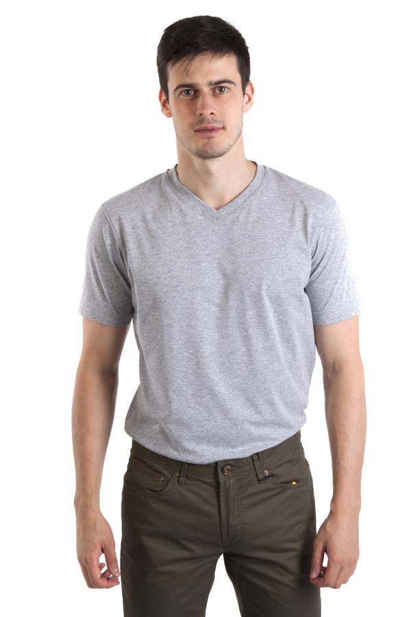 Футболкa PezzoФутболки<br>Однотонная серая мужская футболка Pezzo прямого кроя. Изделие дополнено: v-образным вырезом и короткими рукавами.<br><br>Размер RU: 50<br>Пол: Мужской<br>Возраст: Взрослый<br>Материал: полиэстер 35%, хлопок 65%<br>Цвет: Серый