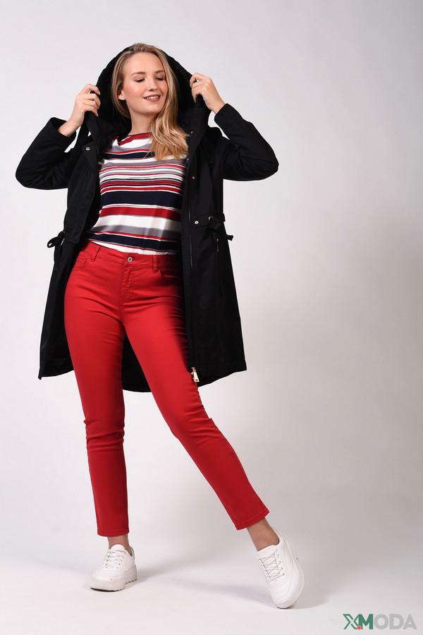 женские брюки via appia, красные
