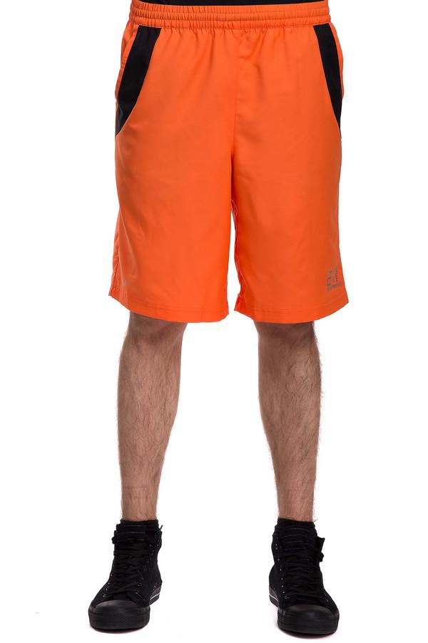 Шорты EA7Шорты<br>Мужские спортивные шорты на резинке от бренда ЕА7. Изделие представлено в оранжевом цвете и дополнено двумя боковыми карманами с отделкой черного цвета. Модель также сзади дополнена скрытым карманом на черной молнии и украшена по бокам эмблемами торговой марки серебристого цвета. Состав изделия - 100% полиэстер.<br><br>Размер RU: 56<br>Пол: Мужской<br>Возраст: Взрослый<br>Материал: полиэстер 100%<br>Цвет: Оранжевый