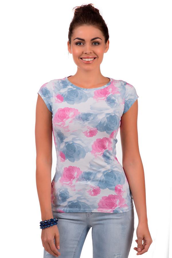 Футболка EA7Футболки<br>Женская футболка от бренда EA7. Это футболка приталенного кроя с коротким рукавом и круглым вырезом. Футболка представлена в белом цвете с цветочным принтом, выполненным в голубом и розовом цветах. Она изготовлена из материала, в состав которого входит хлопок и модал с добавлением эластана. Также, на спине есть голографический принт эмблемы бренда EA7.<br><br>Размер RU: 40-42<br>Пол: Женский<br>Возраст: Взрослый<br>Материал: эластан 4%, хлопок 48%, модал 48%<br>Цвет: Разноцветный