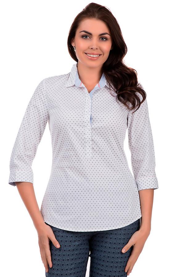 Блузa s.OliverБлузы<br>Женская блуза от бренда s.Oliver выполнена в белом цвете в мелкий геометрический принт темно-синего цвета прекрасно подчеркнет изящество, женственность и легкость своей владелицы. Застёгивается на пуговицы. Модель блузки – батник. Приталенная блуза навыпуск. Изделие дополнено рукавами «три четверти».<br><br>Размер RU: 42<br>Пол: Женский<br>Возраст: Взрослый<br>Материал: эластан 3%, полиамид 22%, хлопок 75%<br>Цвет: Синий