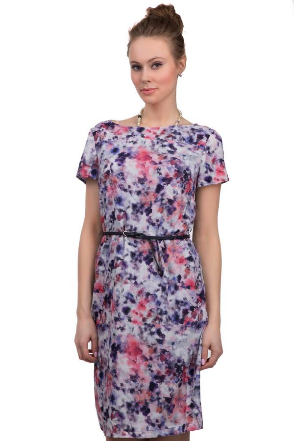 Платье s.OliverПлатья<br>Женское платье от бренда s.Oliver. Это платье белого цвета, с абстрактным принтом, выполненным в розово-фиолетовых тонах. Изделие пошито из 100% полиэстера по приталенному крою. У данной модели вырез-лодочка и рукав длиной до середины плеча. Кроме того, платье дополнено тонким черным поясом на талии.<br><br>Размер RU: 40<br>Пол: Женский<br>Возраст: Взрослый<br>Материал: полиэстер 100%<br>Цвет: Разноцветный