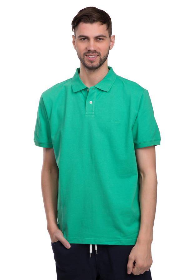 Поло s.OliverПоло<br>Поло от бренда s.Oliver для мужчин. Данная модели сшита по свободному покрою, с отложным воротником на пуговица и рукавом длиной до середины плеча. Изделие выполнено в ярком зеленом цвете и дополнено белыми пуговицами, а также боковыми вырезами снизу.<br><br>Размер RU: 44-46<br>Пол: Мужской<br>Возраст: Взрослый<br>Материал: хлопок 100%<br>Цвет: Зелёный