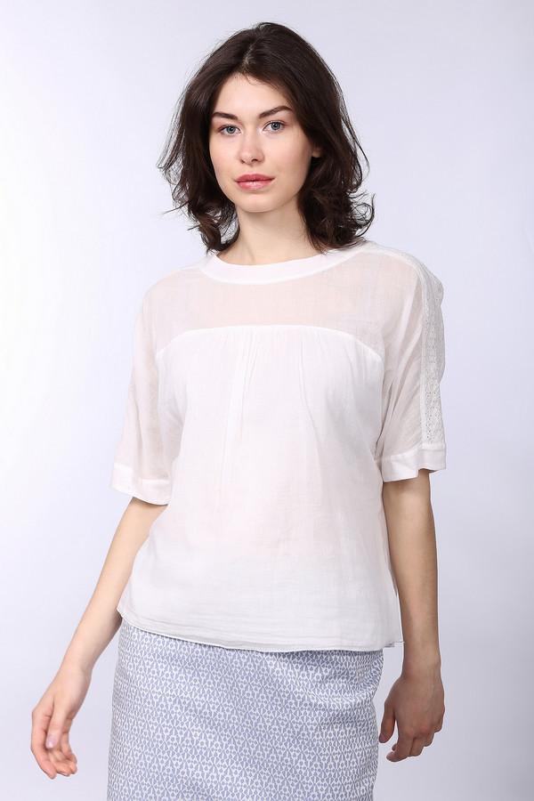 Блузa SetБлузы<br>Стильная хлопковая блуза от бренда Set. Это блуза прямого кроя представлена в белом цвете. У данной модели u-образный вырез и рукавf длиной до локтя. Изделие дополнено кружевными вставками на плечах.<br><br>Размер RU: 40<br>Пол: Женский<br>Возраст: Взрослый<br>Материал: хлопок 100%<br>Цвет: Белый