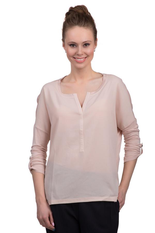 Блузa Tom TailorБлузы<br>Модная женская блуза от немецкого бренда Tom Tailor. Это полупрозрачная блуза бледно-розового оттенка. Эта блуза сшита из 100% вискозы по простому покрою. У данной модели u-образный вырез, удлиненная спинка и рукава длиной до локтя, который можно подстегивать пуговицей.<br><br>Размер RU: 46-48<br>Пол: Женский<br>Возраст: Взрослый<br>Материал: вискоза 100%<br>Цвет: Розовый