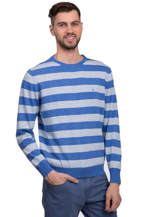 Джемпер Casa ModaДжемперы<br>Модный мужской джемпер мелкой вязки, в синюю и серую полоску. Это джемпер бренда Casa Moda, с классическим круглым вырезом, длинным рукавом на резинке, а также низом на резинке. Джемпер изготовлен из натурального хлопка.<br><br>Размер RU: 58-60<br>Пол: Мужской<br>Возраст: Взрослый<br>Материал: хлопок 100%<br>Цвет: Серый