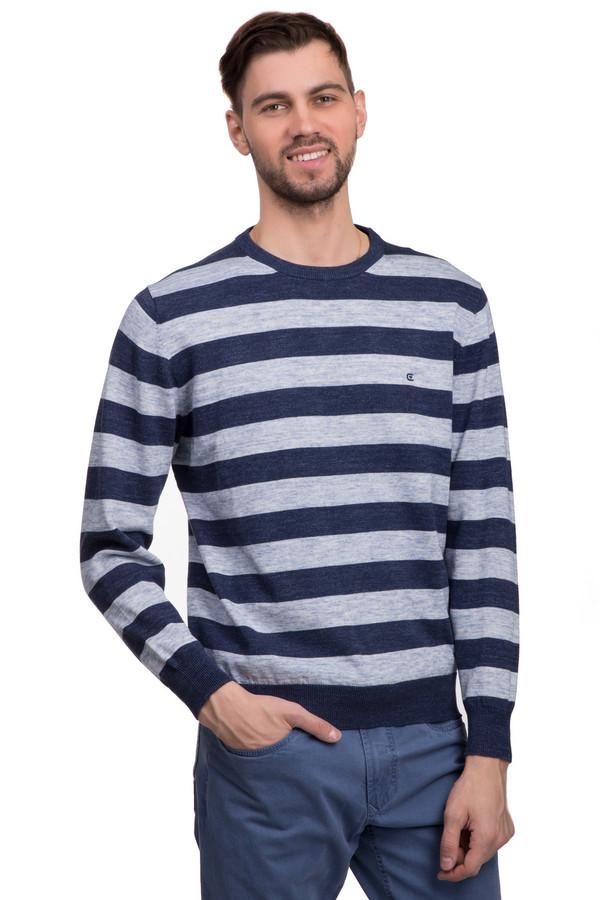 Джемпер Casa ModaДжемперы<br>Модный мужской джемпер мелкой вязки, в темно-синюю и серую полоску. Это джемпер бренда Casa Moda, с классическим круглым вырезом, длинным рукавом на резинке, а также низом на резинке. Джемпер изготовлен из натурального хлопка.<br><br>Размер RU: 50-52<br>Пол: Мужской<br>Возраст: Взрослый<br>Материал: хлопок 100%<br>Цвет: Серый