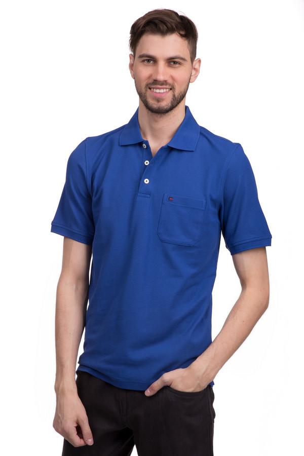Поло Casa ModaПоло<br>Стильное классического поло для мужчин от бренда Casa Moda классического прямого кроя выполнено из натурального и приятного к телу хлопка. Поло представлено в синем цвете. Изделие дополнено: отложным воротником-стойка, планкой на трех пуговицах, одним накладным нагрудным карманом, разрезами по бокам и короткими рукавами до середины плеча. Карман декорирован вышивкой с символикой бренда. Идеально подойдет для повседневного использования.<br><br>Размер RU: 46-48<br>Пол: Мужской<br>Возраст: Взрослый<br>Материал: хлопок 100%<br>Цвет: Синий