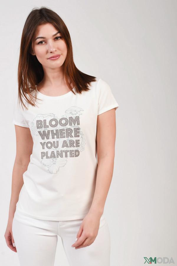 женская футболка comma,, белая