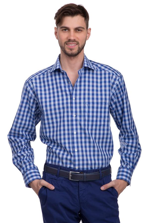 Рубашка с длинным рукавом MarvelisДлинный рукав<br>Рубашка на пуговицах для мужчин от бренда Marvelis. Это рубашка в сине-голубую клетку, сшитая по классическому покрою из 100% хлопка. У данной модели длинный рукав и отложной воротник. Изделие дополнено нагрудным карманом с эмблемой бренда, вышитой гладью.<br><br>Размер RU: 42<br>Пол: Мужской<br>Возраст: Взрослый<br>Материал: хлопок 100%<br>Цвет: Разноцветный